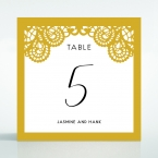Breathtaking Baroque Foil Laser Cut table number card DT120001-DG