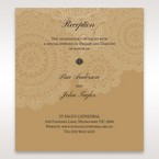 Yellow/Gold Tri-Fold Laser Cut Gold - Reception Cards - Wedding Stationery - 53