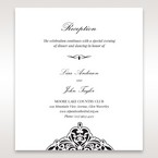 White Jeweled Romance Black Laser Cut - Reception Cards - Wedding Stationery - 79