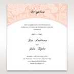 Pink Rustic Garden Laser Cut Pocket - Reception Cards - Wedding Stationery - 95