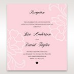 Pink Floral Laser Cut with Embossing - Reception Cards - Wedding Stationery - 2
