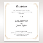 Yellow/Gold Embossed Borders with Classy Gold patterns - Reception Cards - Wedding Stationery - 4