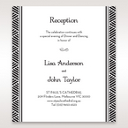 Yellow/Gold Dazzling Gold Foil Stamped - Reception Cards - Wedding Stationery - 7