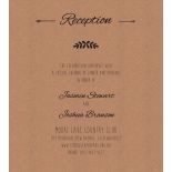 Country Lace Pocket - Reception Cards - DC115086 - 184272
