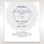Blue Blue Elegance, Floral Couture - Reception Cards - Wedding Stationery - 9