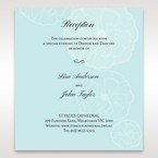 Blue Sculpted White Flower - Reception Cards - Wedding Stationery - 68