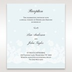 Brown Floral Couture in Blue & White - Reception Cards - Wedding Stationery - 11