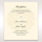 Brown Embossed Swirls Hard Layer - Reception Cards - Wedding Stationery - 32