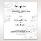 White Laser Cut Floral Frame - Reception Cards - Wedding Stationery - 32