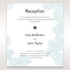 Blue Laser Cut Flower Wrap - Reception Cards - Wedding Stationery - 69