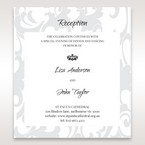 Blue Laser Scrolling Grandeur Layered Laser Cut - Reception Cards - Wedding Stationery - 4