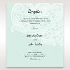 Blue Laser Cut Floral Pocket - Reception Cards - Wedding Stationery - 94