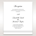 White Modern Pocket-Grey - Reception Cards - Wedding Stationery - 44