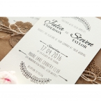 Country Lace Pocket Wedding invitation in Brown PWI115086 10