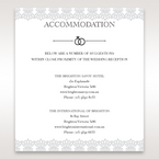 White Traditional Romance - Accommodation - Wedding Stationery - 72