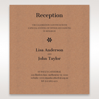 Brown Floral Laser Cut Rustic Gem - Reception Cards - Wedding Stationery - 94
