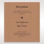 Brown Floral Laser Cut Rustic Gem - Reception Cards - Wedding Stationery - 94