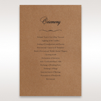 Brown Country Glamour - Order of Service - Wedding Stationery - 70