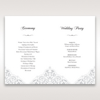 White An Elegant Beginning - Order of Service - Wedding Stationery - 79