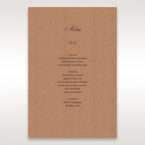 Brown Rustic Laser Cut Pocket with Classic Bow - Menu Cards - Wedding Stationery - 8