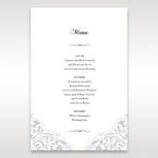 White An Elegant Beginning - Menu Cards - Wedding Stationery - 22