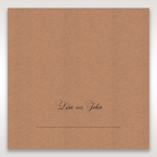 Brown Rustic Laser Cut Pocket with Classic Bow - Place Cards - Wedding Stationery - 13