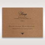 Brown Country Glamour - RSVP Cards - Wedding Stationery - 35