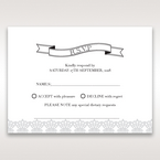 White Traditional Romance - RSVP Cards - Wedding Stationery - 36