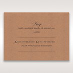Brown Rustic Laser Cut Pocket with Classic Bow - RSVP Cards - Wedding Stationery - 28