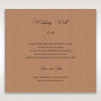 Brown Rustic Laser Cut Pocket with Classic Bow - Wishing Well / Gift Registry - Wedding Stationery - 33