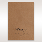 Brown Country Glamour - Thank You Cards - Wedding Stationery - 1