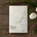 Elegant Floral Laser Cut wedding invitations HB15087