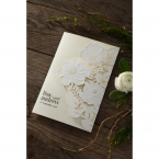 Elegant Floral Laser Cut wedding invitations HB15087_1