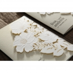 Elegant Floral Laser Cut wedding invitations HB15087_15