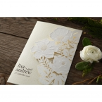 Elegant Floral Laser Cut wedding invitations HB15087_2