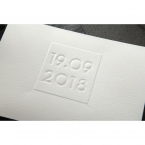 Embossed Date wedding invitations HB14131_2