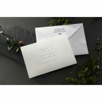 Embossed Date wedding invitations HB14131_3
