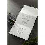 Embossed Date wedding invitations HB14131_4