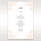 Embossed Floral Frame menu card DM15106