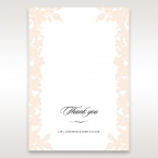 Embossed Floral Frame thank you card DY15106