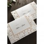 Embossed Floral Frame wedding invitations HB15106_11