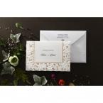 Embossed Floral Frame wedding invitations HB15106_4