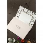 Embossed Floral Frame wedding invitations HB15106_6