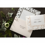 Embossed Floral Frame wedding invitations HB15106_7