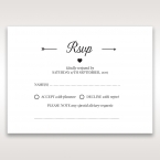 Embossed Frame rsvp card DV116025