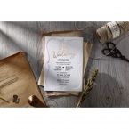 Embossed Frame wedding invitations OWI116025_1