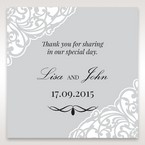 Silver/Gray Jeweled Romance Laser Cut - Gift Tags - Wedding Stationery - 52
