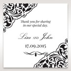 White Jeweled Romance Black Laser Cut - Gift Tags - Wedding Stationery - 58