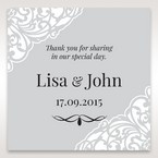 Silver/Gray Jeweled White Lasercut Pocket - Gift Tags - Wedding Stationery - 61