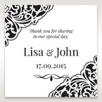 White Jeweled Romance Black Lasercut Pocket - Gift Tags - Wedding Stationery - 66